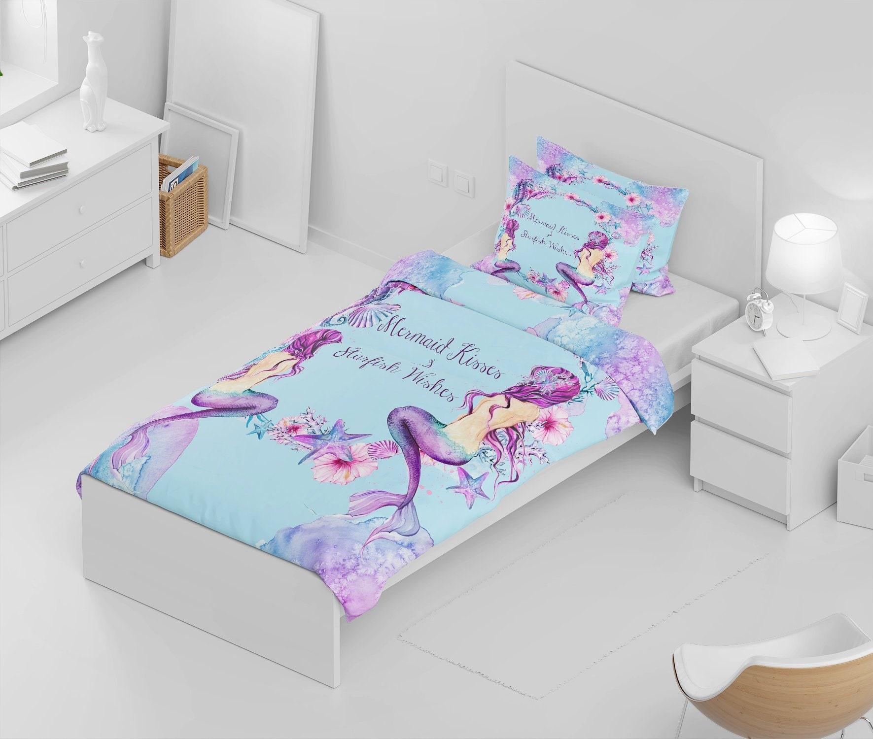 Purple Mermaid Comforter Set or Duvet Cover Mermaid Kisses ...