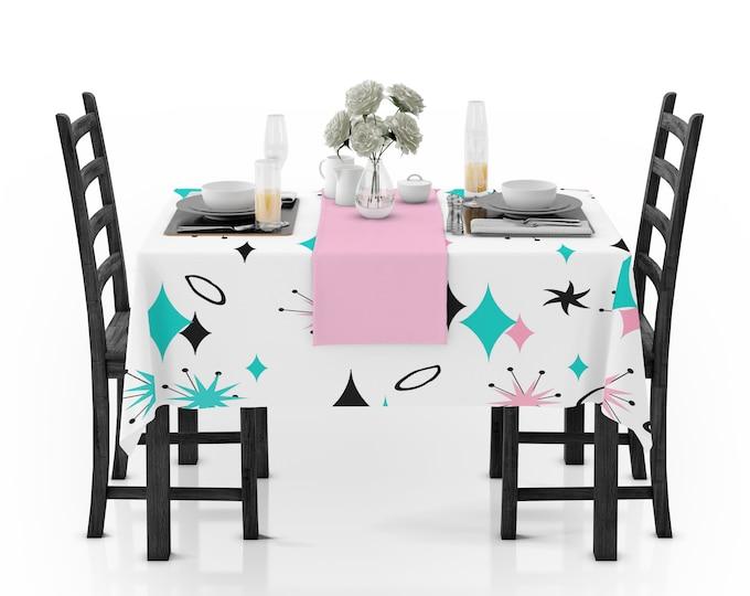 Mid-Century Modern Theme Tablecloth