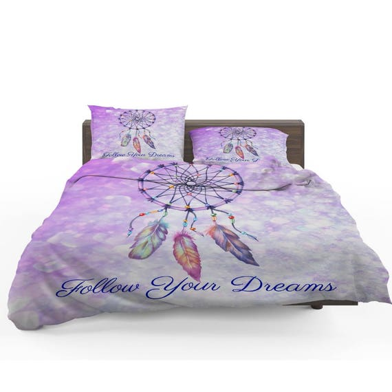 Purple Dreamcatcher Bedding Duvet Cover Or Comforter Etsy Amazing Dream Catcher Comforter