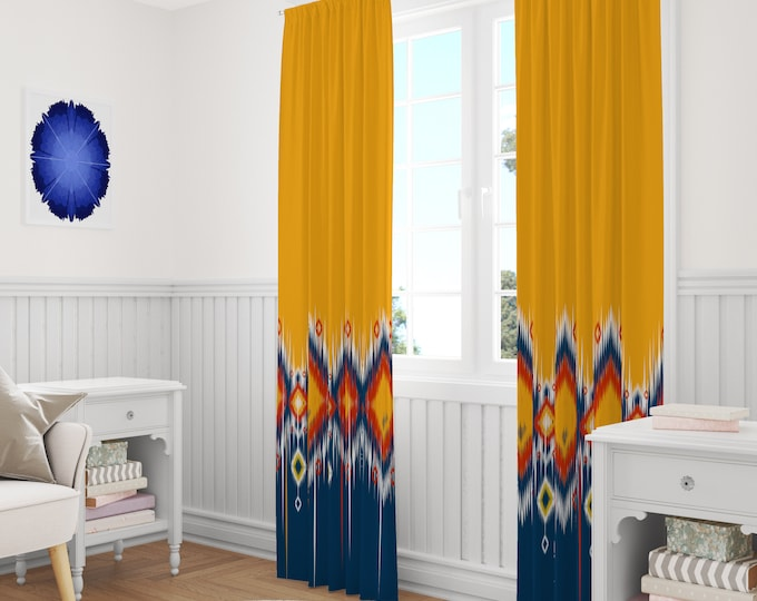 Southwest Boho Window Curtains