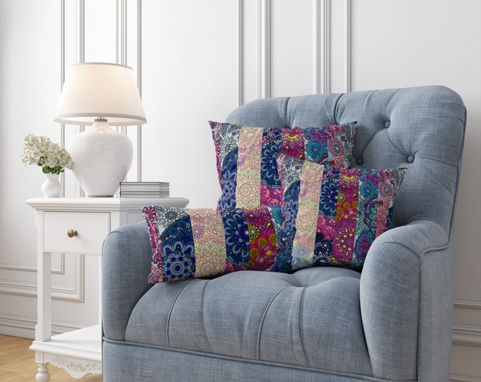 Boho Paisley Throw Pillows