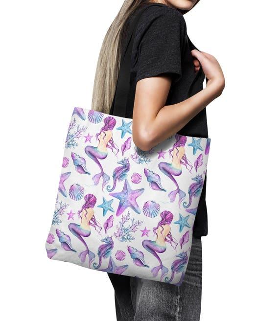 Mermaid Tote Bag Beach Bag Canvas Bag Shopping Bag 18x18  48769ca158214