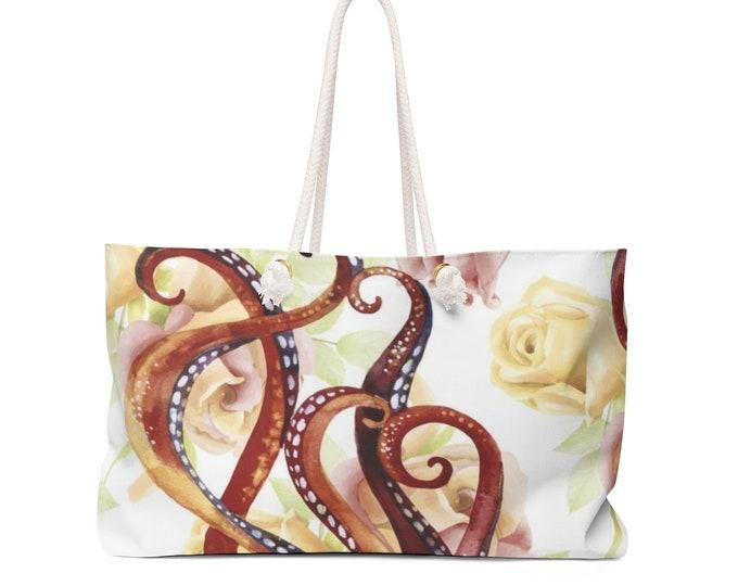 Octopus Floral Weekender Bag