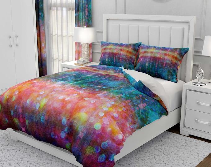 Bohemian Rain Comforter, Duvet Cover Pillow Shams