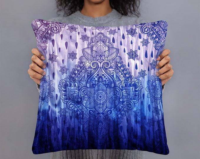 Boho Pillow, Purple Throw Pillow, Hippie Decor, Boho Maximalist , Tie Dye Pillow, Mandala Throw Pillow