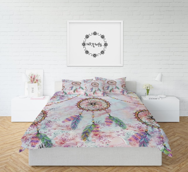 Dream Catcher Comforter Or Duvet Cover Set Twin Full Queen Etsy Magnificent Dream Catcher Comforter