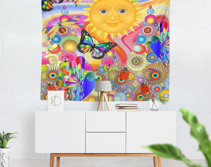 Boho Hippie Wall Tapestry , Under The Sun