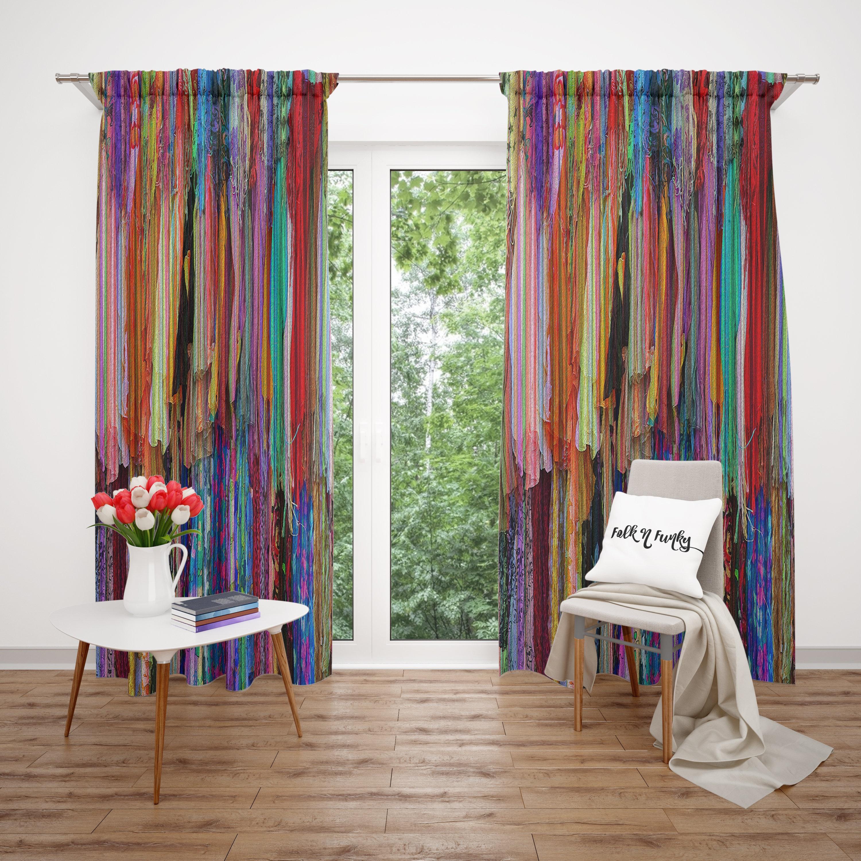 Boho Window Curtains Gypsy Chic Valance Custom Sizes