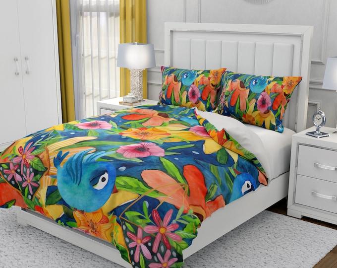 Folk Art Floral Bedding Set