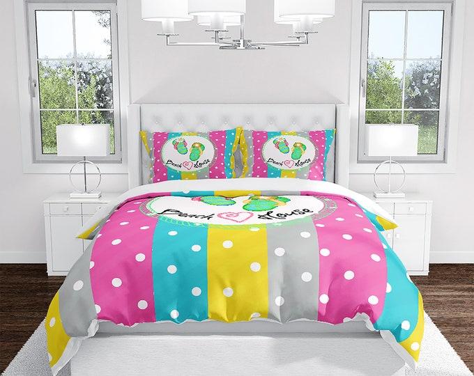 Beach House Comforter, Duvet Cover, Pillow Shams