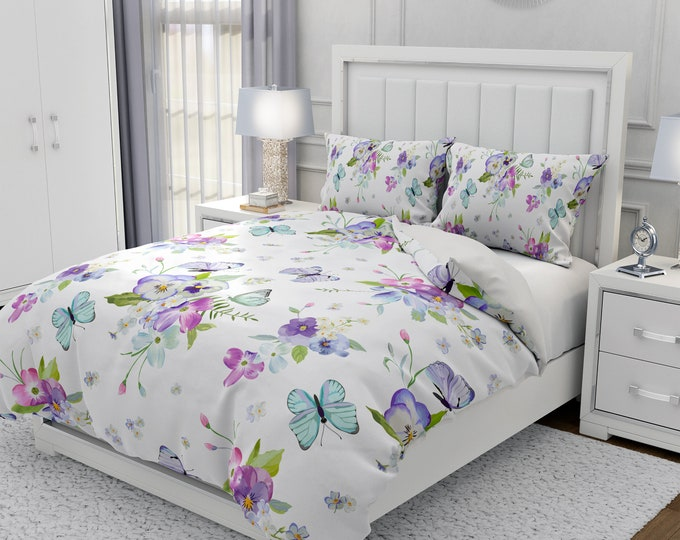 Pansy Floral Bedding Set