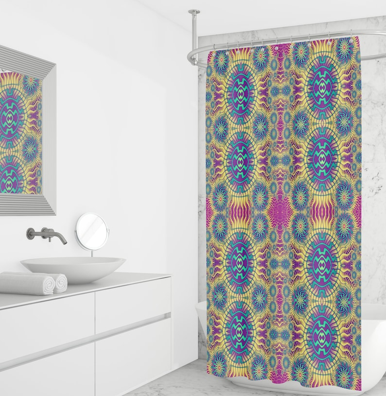 Boho Hippie Shower Curtain