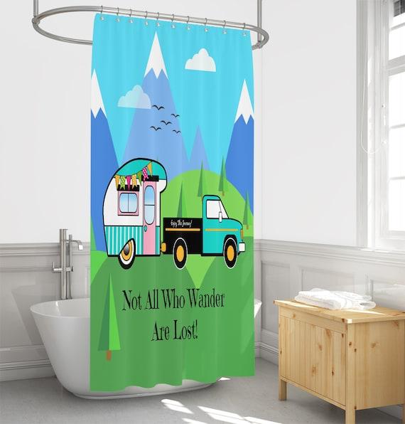 Vintage Camper Shower Curtain Rv Size