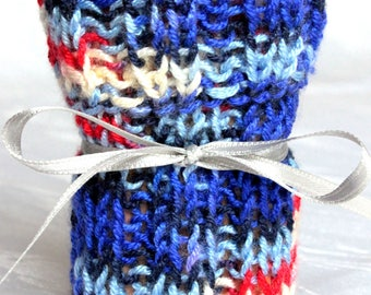 Chair socks color gradient different colors (Blue, Black, Terra, Brown or Green color) Set of 4 knitted