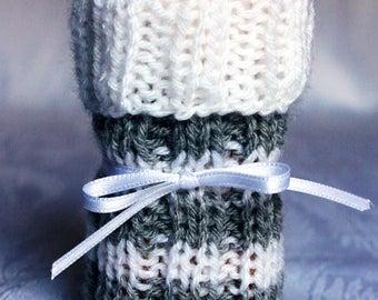 Chair Socks White-Gray 4-pack knitted