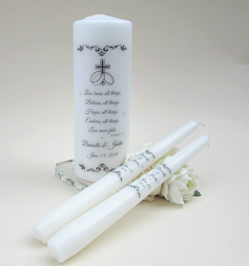 Wedding Candles Personalised Unity Candle Unity Candle Set Unity Candle