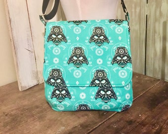 Darth Vader, Sugar Skulls, Messenger Bag, with an Adjustable Strap