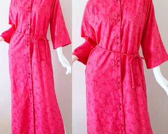 e819c8359578 1960s Japanese Kimono Dress I Magnin Madame Butterfly Brocade Lace 60s  Vintage Caftan Large