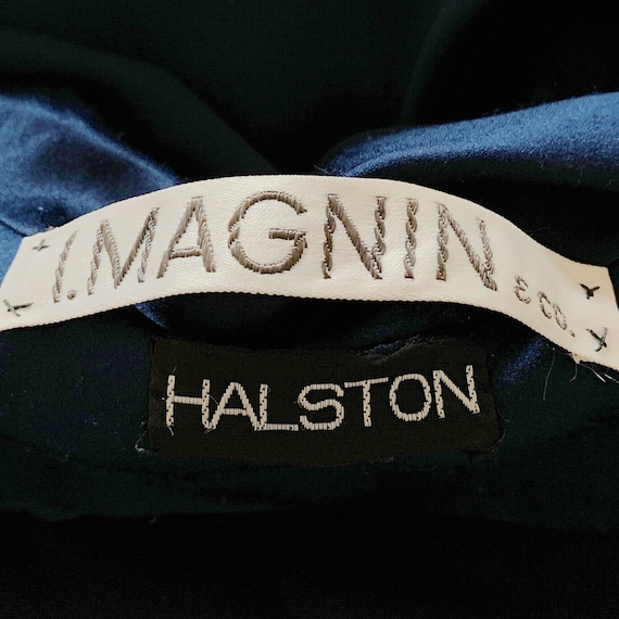 1970s Vintage Halston Dress, Silk Minimalist Mod … - image 2