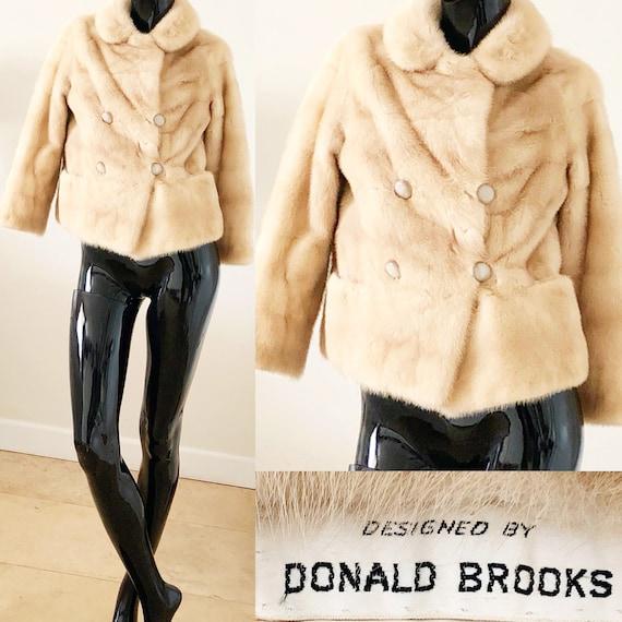 Coat Coopchik 60s Vintage Blonde Jacket Small Medium Donald Coat Mink Brooks Mink Fur Forrest qYBz1