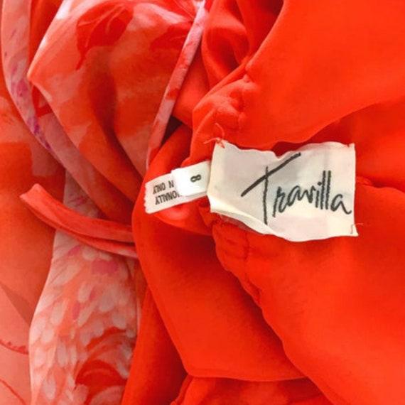 70s William Travilla Silk Kimono Dress Medium, Vi… - image 5
