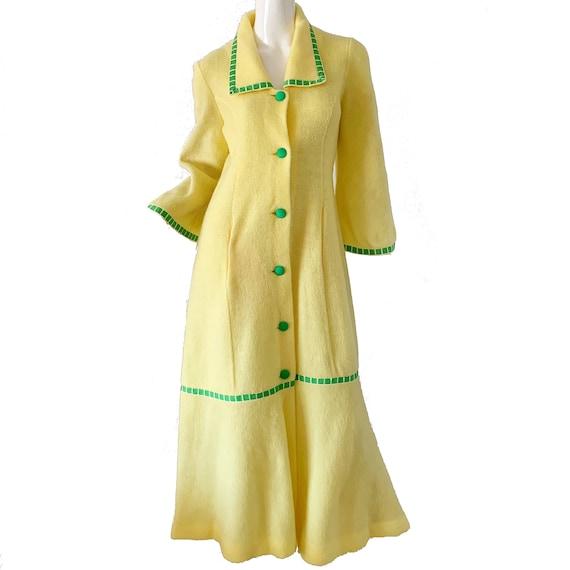 70s Vintage Mod Maxi Dress / Canat Paris Ribbon Be