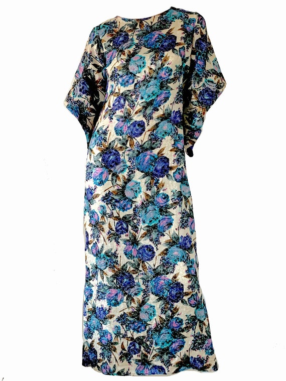 Vintage 1950s Hawaiian Pake Muu Kimono Dress / Met