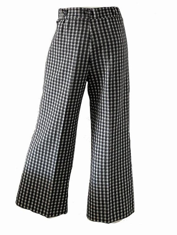 1970s Mod Geometric Bell Bottoms Pantsuit, Psyche… - image 5