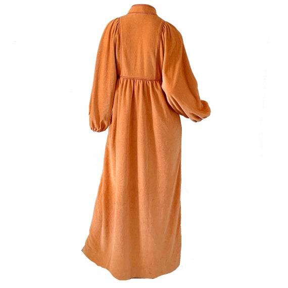 Vintage 70s Bill Tice Dress Kimono / Mod Velvet V… - image 4