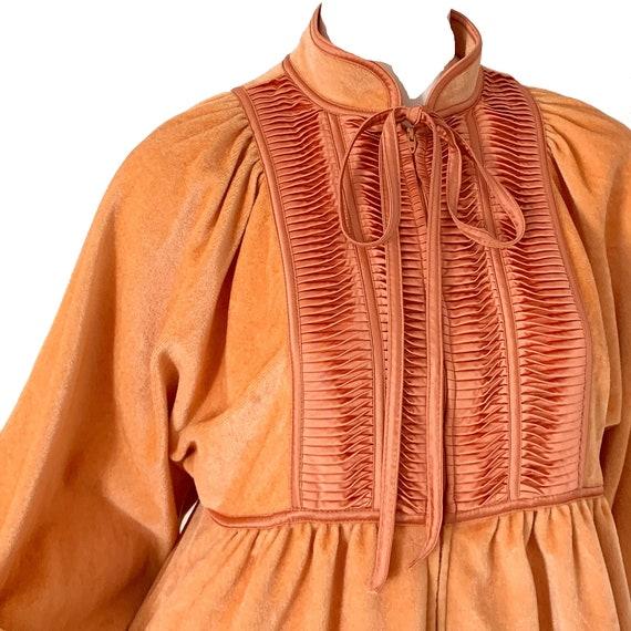 Vintage 70s Bill Tice Dress Kimono / Mod Velvet V… - image 2