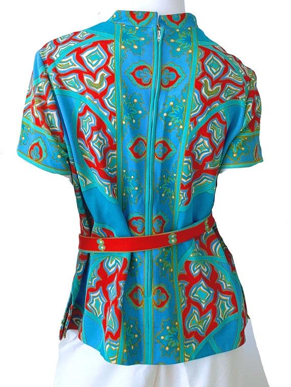 60s Vintage Mod Asian Pantsuit, Don Manuel Of Mia… - image 4