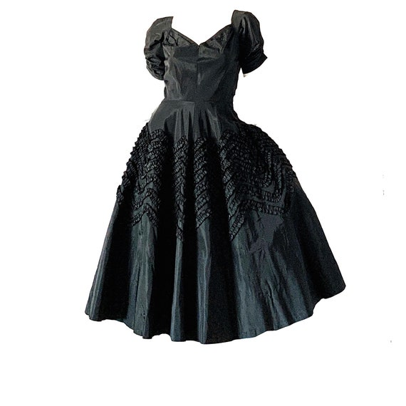 Suzy Perette Dress 50s Vintage //1950s Ribbon Swin