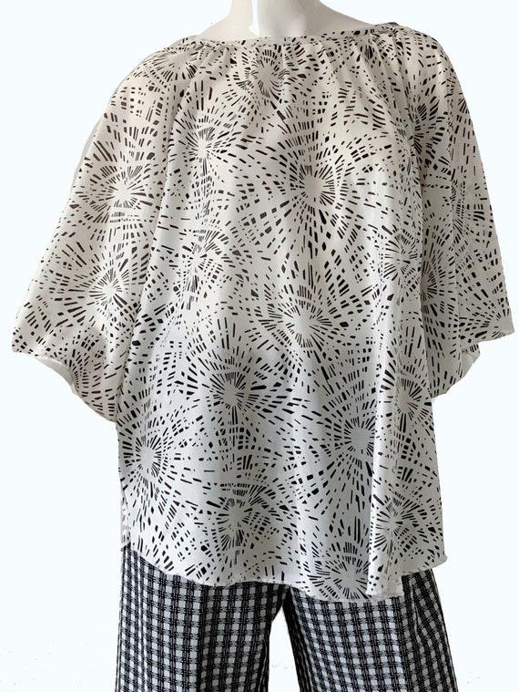 1970s Mod Geometric Bell Bottoms Pantsuit, Psyche… - image 6
