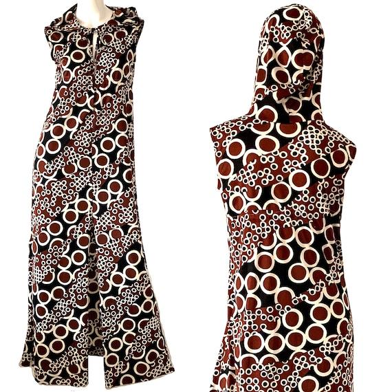 70s Jantzen Maxi Dress / Psychedelic Mod Geometric