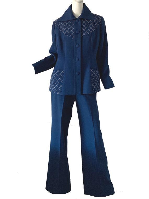 Vintage 60s Lilli Ann Pant Suit / Mod Metallic Jac