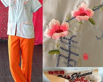 Plum Blossom Embroidered Jacket Vintage Chinese Embroidered Cheongsam Spring Jacket