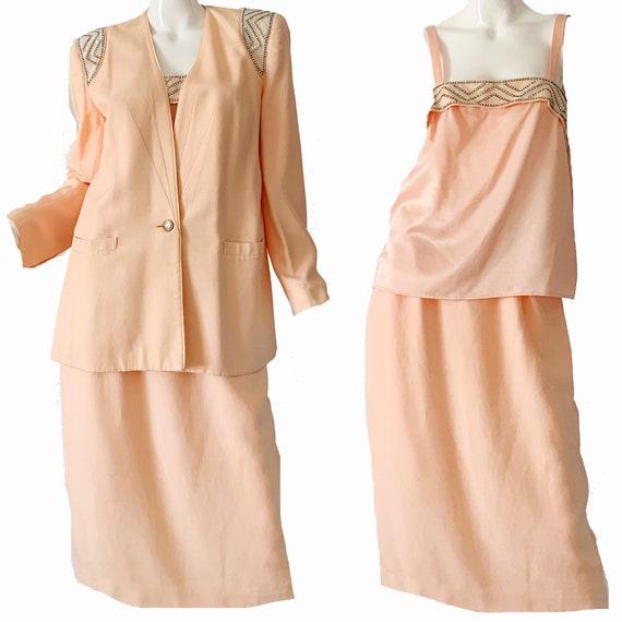 Vintage 80s Nolan Miller Dress Suit  / Disco Dynas