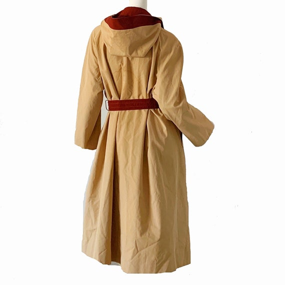 Vintage 70s Trench Raincoat Etienne Aigner Hooded… - image 4