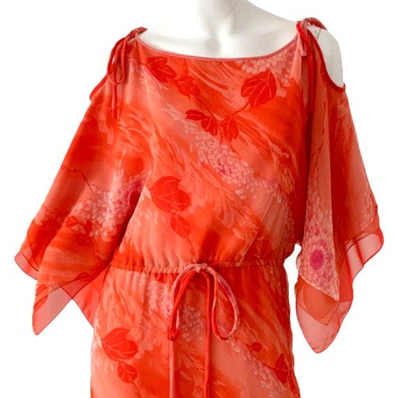 70s William Travilla Silk Kimono Dress Medium, Vi… - image 2