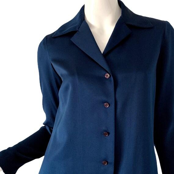 1970s Vintage Halston Dress, Silk Minimalist Mod … - image 3