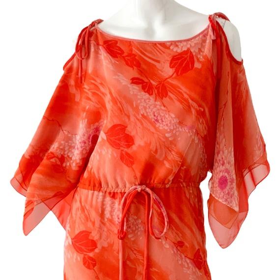 70s William Travilla Silk Kimono Dress Medium, Vi… - image 7
