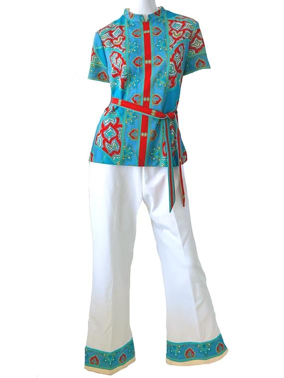 60s Vintage Mod Asian Pantsuit, Don Manuel Of Mia… - image 1