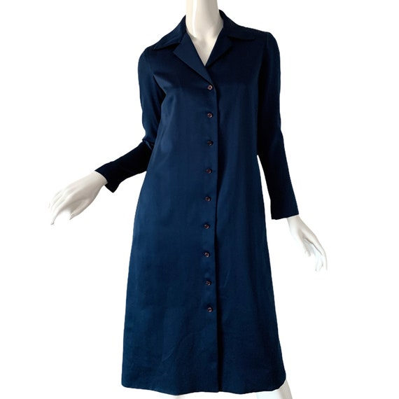 1970s Vintage Halston Dress, Silk Minimalist Mod … - image 1