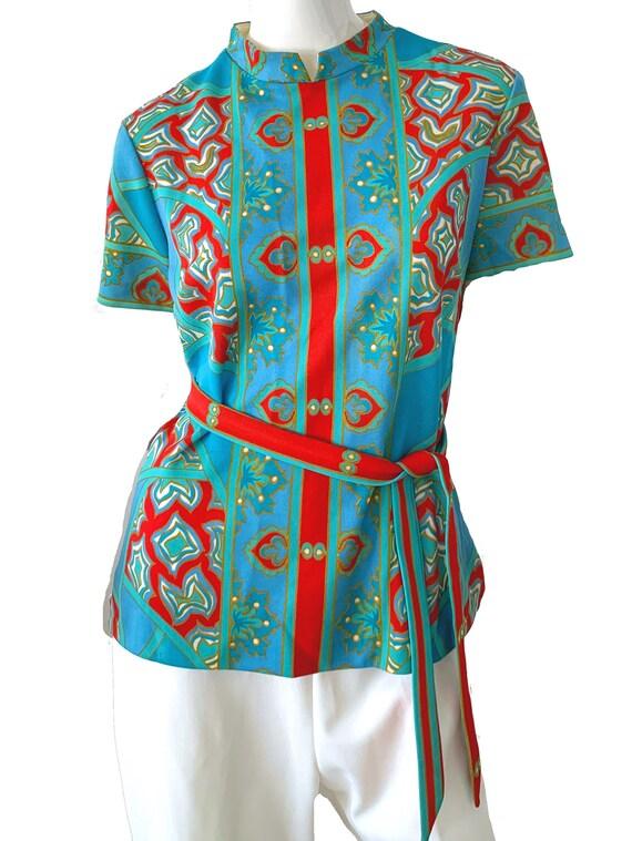 60s Vintage Mod Asian Pantsuit, Don Manuel Of Mia… - image 2