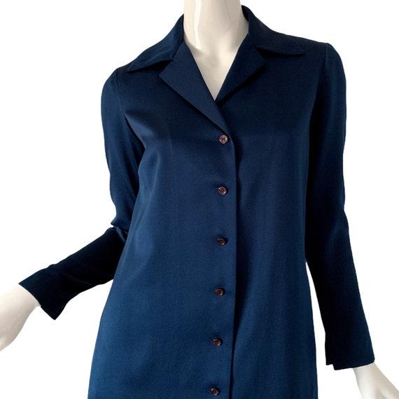 1970s Vintage Halston Dress, Silk Minimalist Mod … - image 5