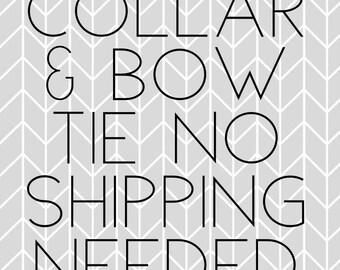 Collar & Bow Tie