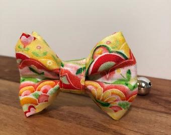 Sunburst Cat Collar with optional Flower, Bow Tie or Neck Tie