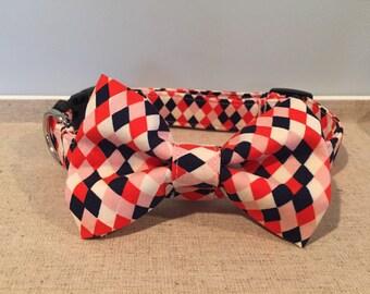 Diamond Print Dog Collar