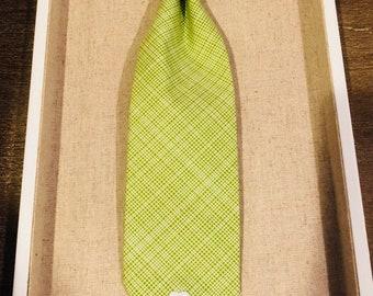 Green Check Pet Tie