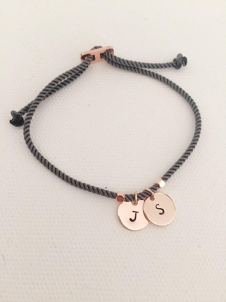 Double initial bracelet